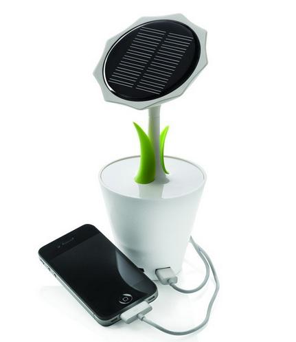 cargador solar girasol usb
