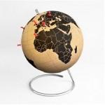 globo terraqueo de corcho